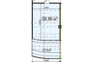 БЦ Idm Mall: планировка помощения 28.99 м²
