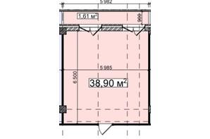 БЦ Idm Mall: планировка помощения 38.9 м²