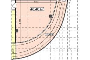 БЦ Idm Mall: планировка помощения 48.46 м²