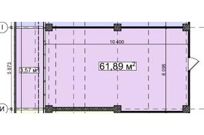 БЦ Idm Mall: планировка помощения 61.89 м²