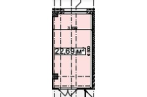 БЦ Idm Mall: планировка помощения 22.69 м²