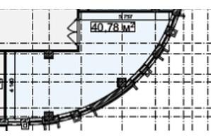 БЦ Idm Mall: планировка помощения 40.78 м²