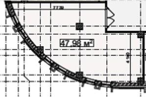 БЦ Idm Mall: планировка помощения 47.98 м²