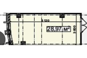 БЦ Idm Mall: планировка помощения 28.97 м²