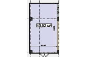 БЦ Idm Mall: планировка помощения 43.52 м²
