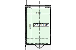 БЦ Idm Mall: планировка помощения 27.2 м²