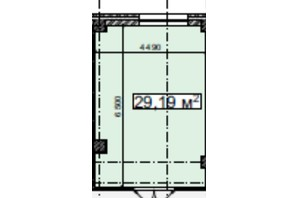 БЦ Idm Mall: планировка помощения 29.19 м²