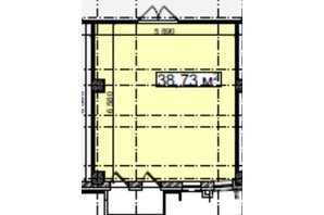 БЦ Idm Mall: планировка помощения 38.73 м²