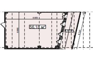 БЦ Idm Mall: планировка помощения 56.18 м²