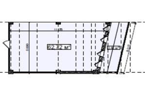 БЦ Idm Mall: планировка помощения 62.72 м²
