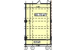 БЦ Idm Mall: планировка помощения 46.76 м²
