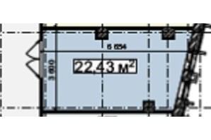 БЦ Idm Mall: планировка помощения 22.43 м²
