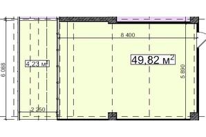 БЦ Idm Mall: планировка помощения 49.82 м²
