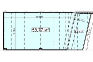 БЦ Idm Mall: планировка помощения 58.77 м²