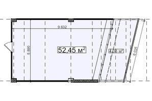 БЦ Idm Mall: планировка помощения 52.42 м²