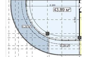 БЦ Idm Mall: планировка помощения 43.89 м²