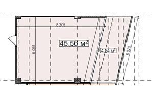 БЦ Idm Mall: планировка помощения 45.56 м²