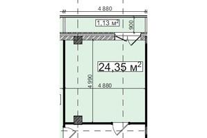 БЦ Idm Mall: планировка помощения 24.35 м²