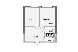 БЦ Kadorr City: планування приміщення 36.89 м²