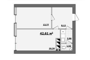 БЦ Kadorr City: планування приміщення 42.61 м²