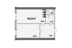 БЦ Kadorr City: планування приміщення 43.19 м²