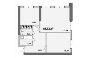 БЦ Kadorr City: планування приміщення 44.12 м²