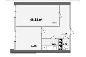 БЦ Kadorr City: планування приміщення 48.35 м²