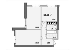 БЦ Kadorr City: планування приміщення 53.6 м²