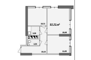БЦ Kadorr City: планування приміщення 57.72 м²