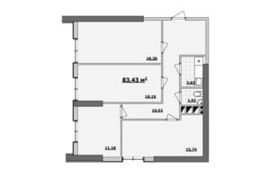 БЦ Kadorr City: планування приміщення 83.43 м²