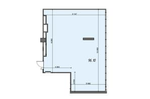 БЦ Level: планировка помощения 96.1 м²