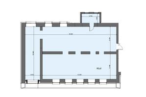 БЦ Level: планировка помощения 190.6 м²