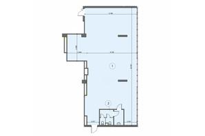 БЦ Level: планировка помощения 194 м²