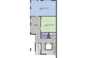 БЦ Lypynsky: планировка помощения 485.72 м²