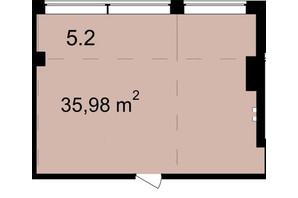Бізнес Центр Q-5  Quoroom Office Metropol: планування приміщення 35.98 м²