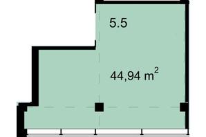 Бизнес Центр Q-5  Quoroom Office Metropol: планировка помощения 44.94 м²