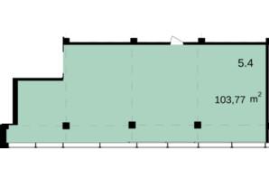 Бизнес Центр Q-5  Quoroom Office Metropol: планировка помощения 103.77 м²