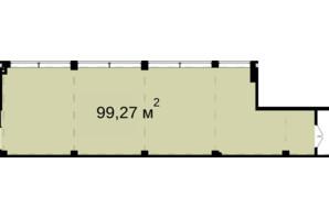 Бизнес Центр Q-5  Quoroom Office Metropol: планировка помощения 99.27 м²