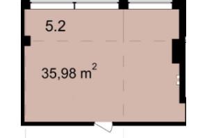 Бизнес Центр Q-5  Quoroom Office Metropol: планировка помощения 35.98 м²