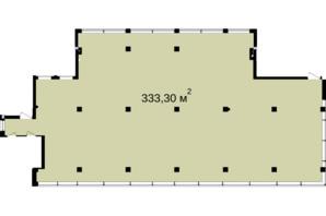 Бизнес Центр Q-5  Quoroom Office Metropol: планировка помощения 333.3 м²
