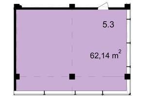 Бизнес Центр Q-5  Quoroom Office Metropol: планировка помощения 62.14 м²