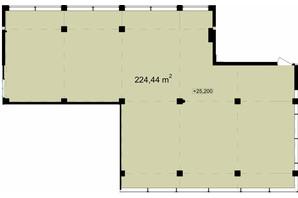 Бизнес Центр Q-5  Quoroom Office Metropol: планировка помощения 224.44 м²