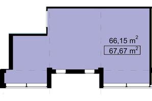 Бизнес Центр Q-5  Quoroom Office Metropol: планировка помощения 67.67 м²