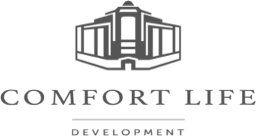 Логотип будівельної компанії Comfort Life (Комфорт Лайф)