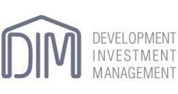 Логотип будівельної компанії DIM (Development Investment Management)