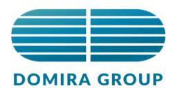 Логотип будівельної компанії Domira Group