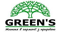 Логотип строительной компании ГО «Green's»
