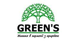 Логотип будівельної компанії ГО «Green's»