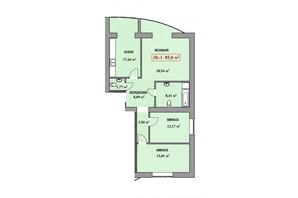 Городок Соборное: планировка 3-комнатной квартиры 85 м²