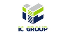 Логотип строительной компании IC Group (Ай Си Груп)